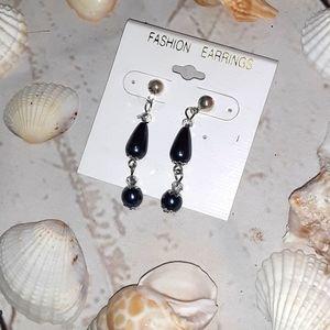 Costume Blue  & Silver Dazzling Earrings